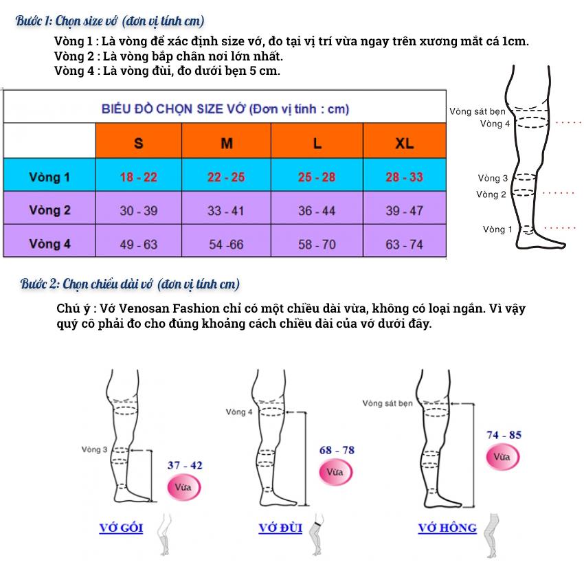 Cách đo và chọn vớ y khoa Venosan Fashion