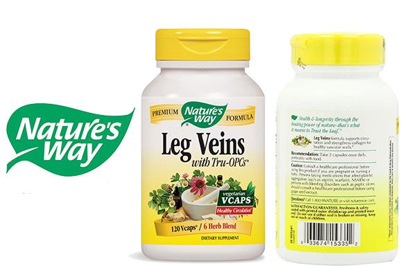 Nature's Way Leg Veins tăng cường lưu thông máu hỗ trợ điều trị suy giãn tĩnh mạch