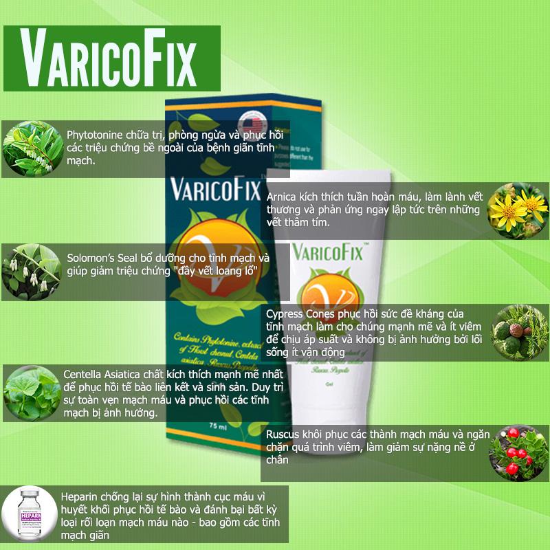 Varicofix được chiết xuất hoàn toàn từ những nguyên liệu thảo dược thiên nhiên hỗ trợ điều trị giãn tĩnh mạch chân