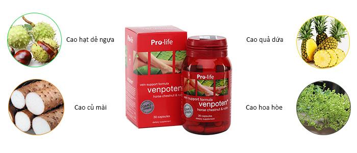 Venpoten chiết xuất từ các thảo dược trong tự nhiên
