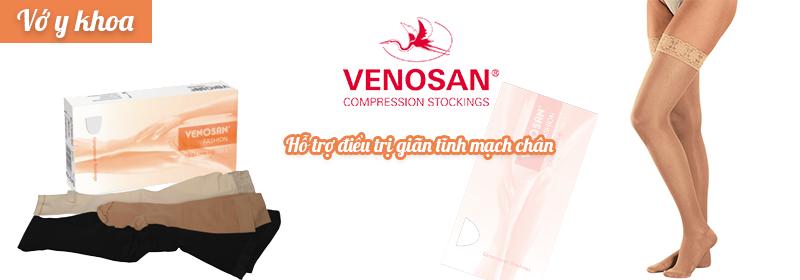 Vớ y khoa Venosan Fashionhỗ trợ điều trị giãn tĩnh mạch