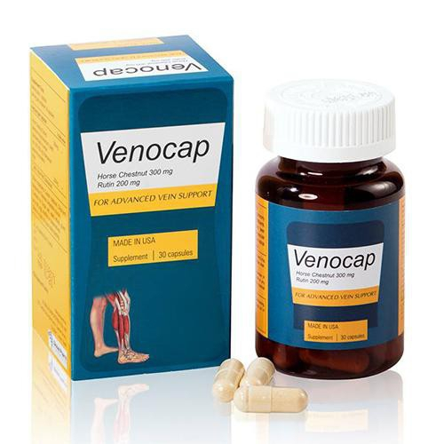 Viên uống ngăn ngừa suy tĩnh mạch Venocap, Hộp 30 viên